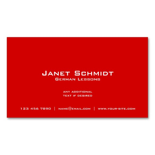German flag business cards German teacher cards