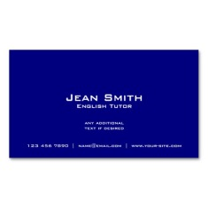 back of Union Jack business cards / English teacher business cards