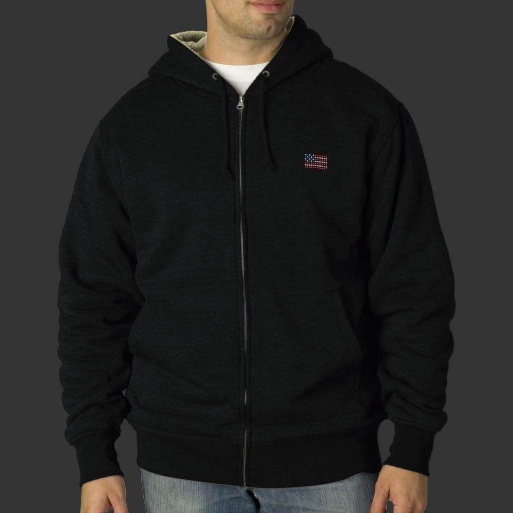 Unique American flag hoodie mens