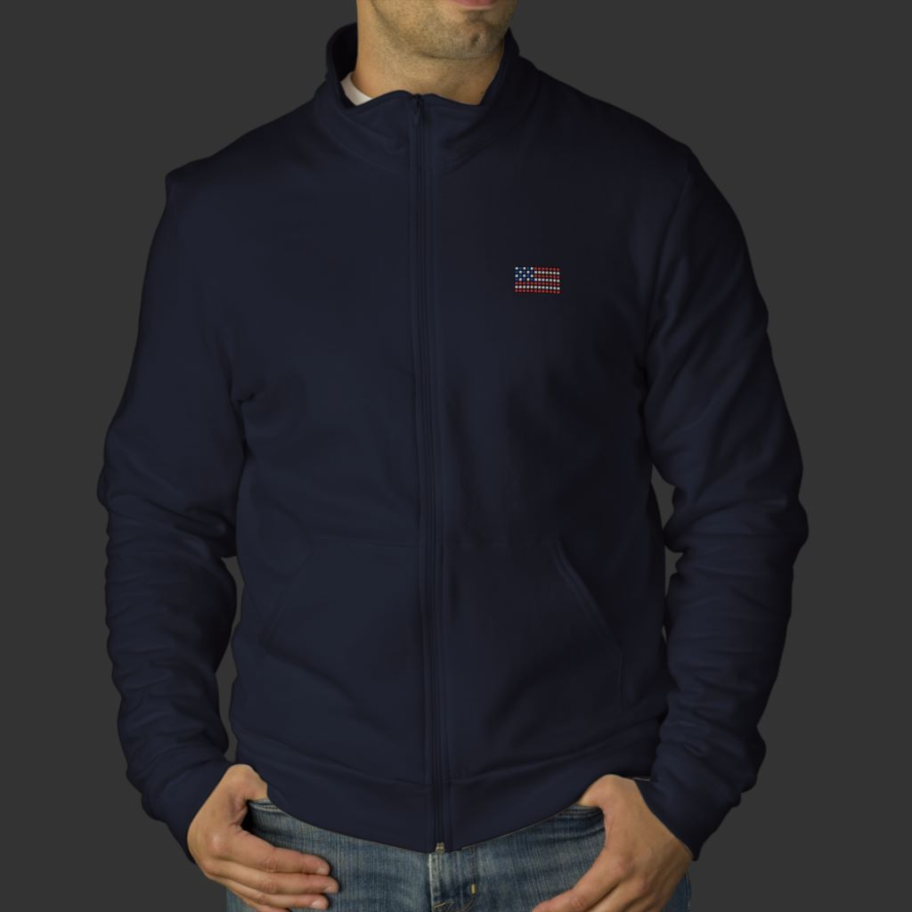 Unique navy blue american flag jacket