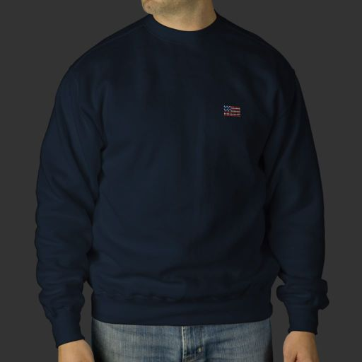 Unique navy blue american flag sweatshirt
