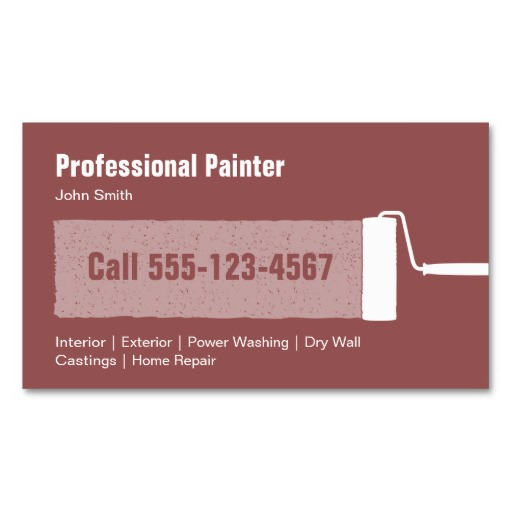 professional painter business card template - Painting Business Cards