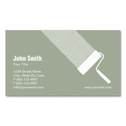 Elegant painting business cards colourmoves