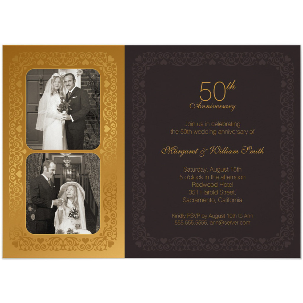 50th wedding anniversary invitations country wood lace sunflowers - Wedding anniversary invitations ...
