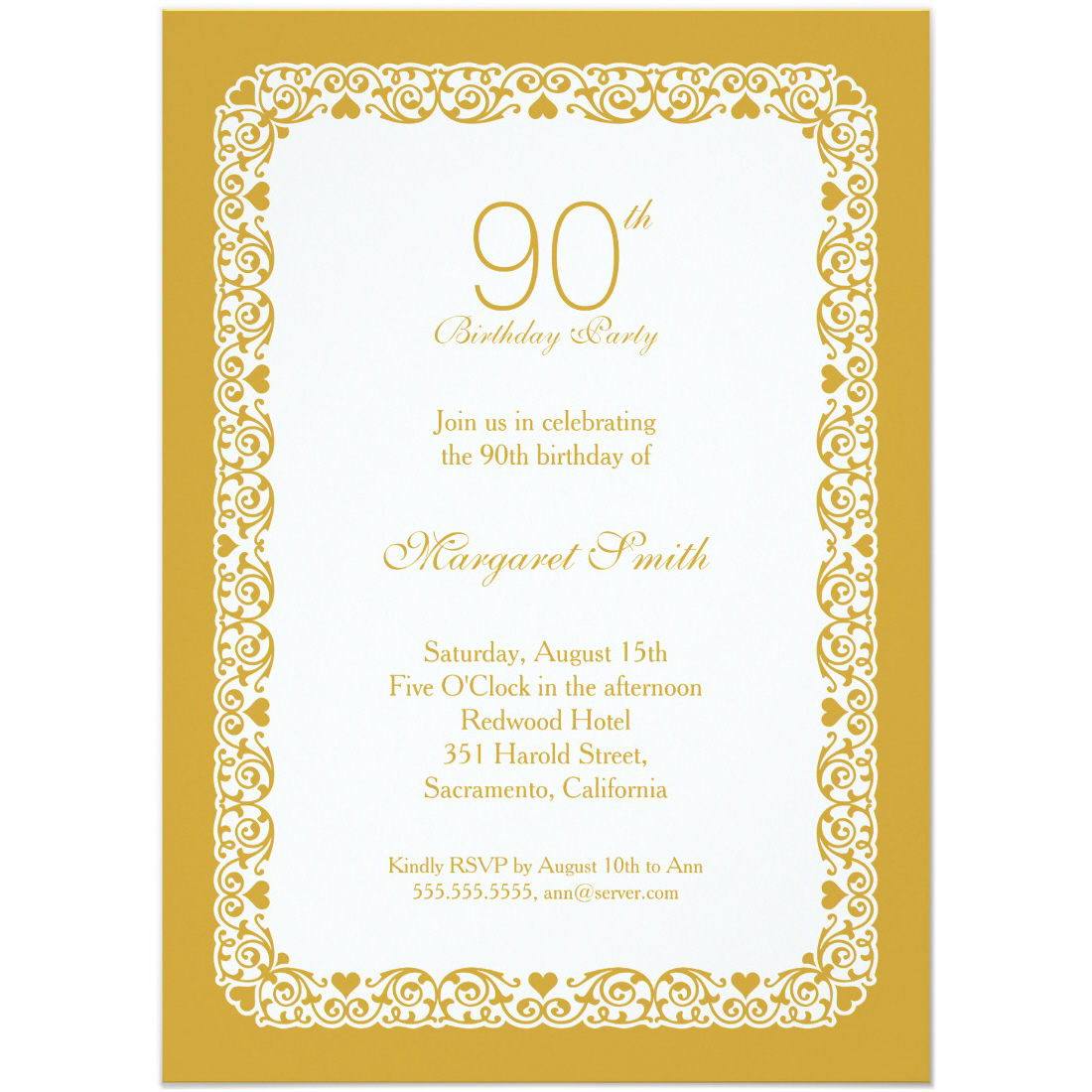 90th birthday invitation templates Archives Superdazzle Custom