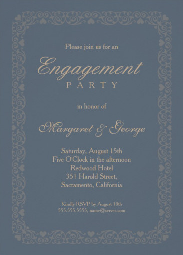 Engagement Invitation Template Archives  Page  Of