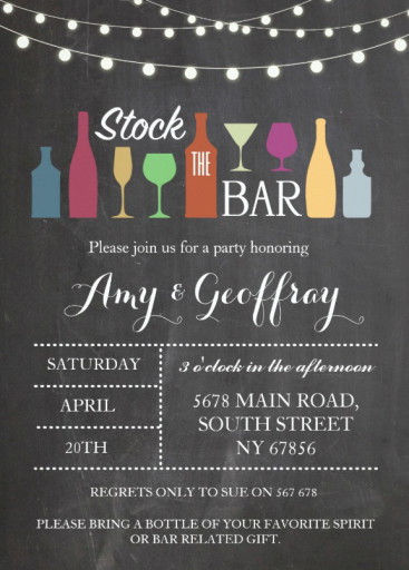 Stock The Bar engagement card design
