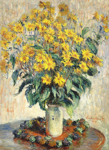 Claude Monet Canvas Print - Jerusalem Artichoke Flowers 1880