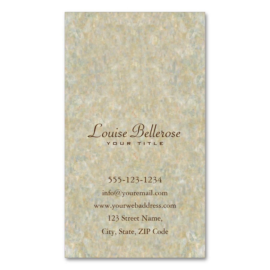 Back of Business Cards