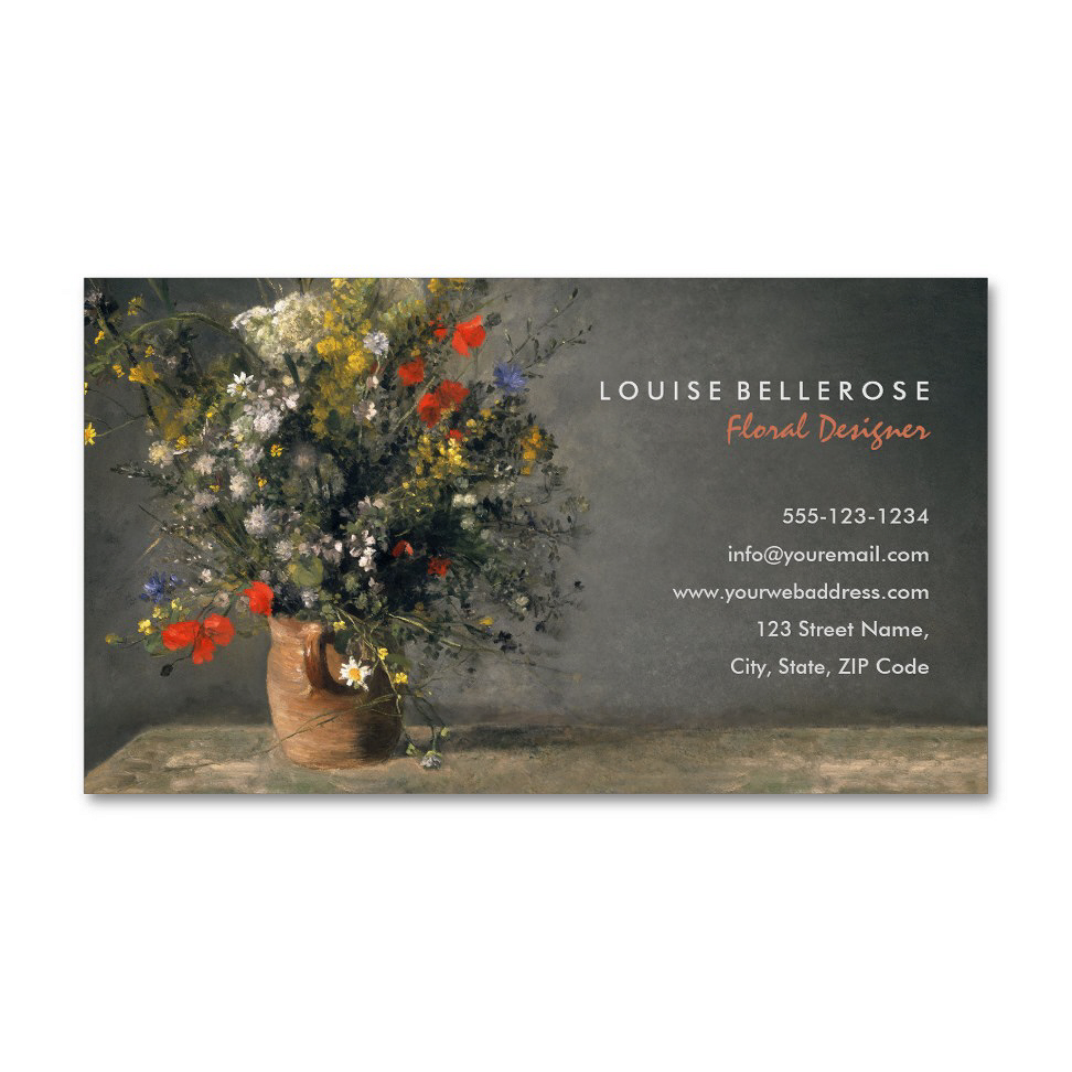 Florist Wedding Flower Arrangements Business Cards