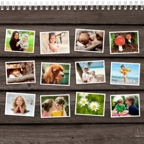 Back Personalised 2017 photo calendar