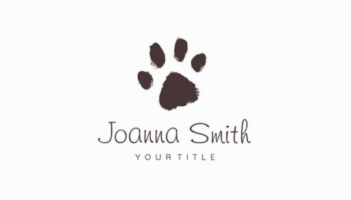 Pet Paw Print Pet Grooming Business Cards - Veterinary Clinic Pet Sitting, Dog Walking