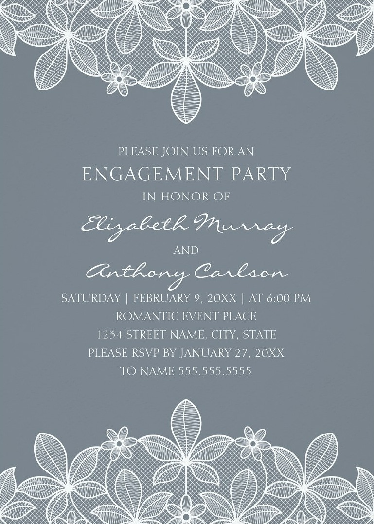 Beautiful Engagement Party Invitations - Personalize online!
