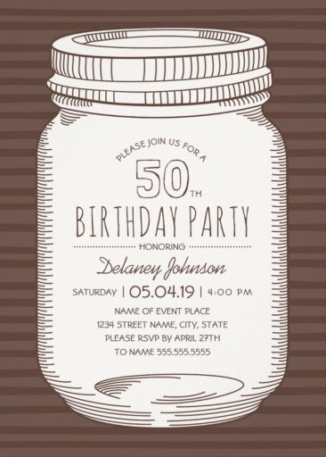 50th birthday invitations templates