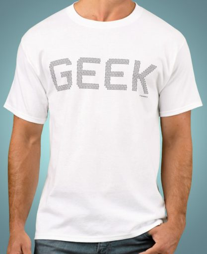 Geek T-Shirt Binary Code Computer Programmer Freak Tee