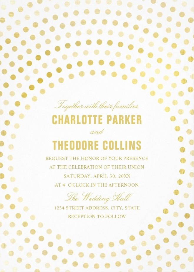 Modern Wedding Invitations - Creative Faux Gold Cards