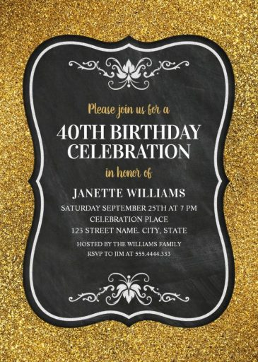 Th Birthday Invitation Templates Pasoevolistco - 40th birthday invites templates