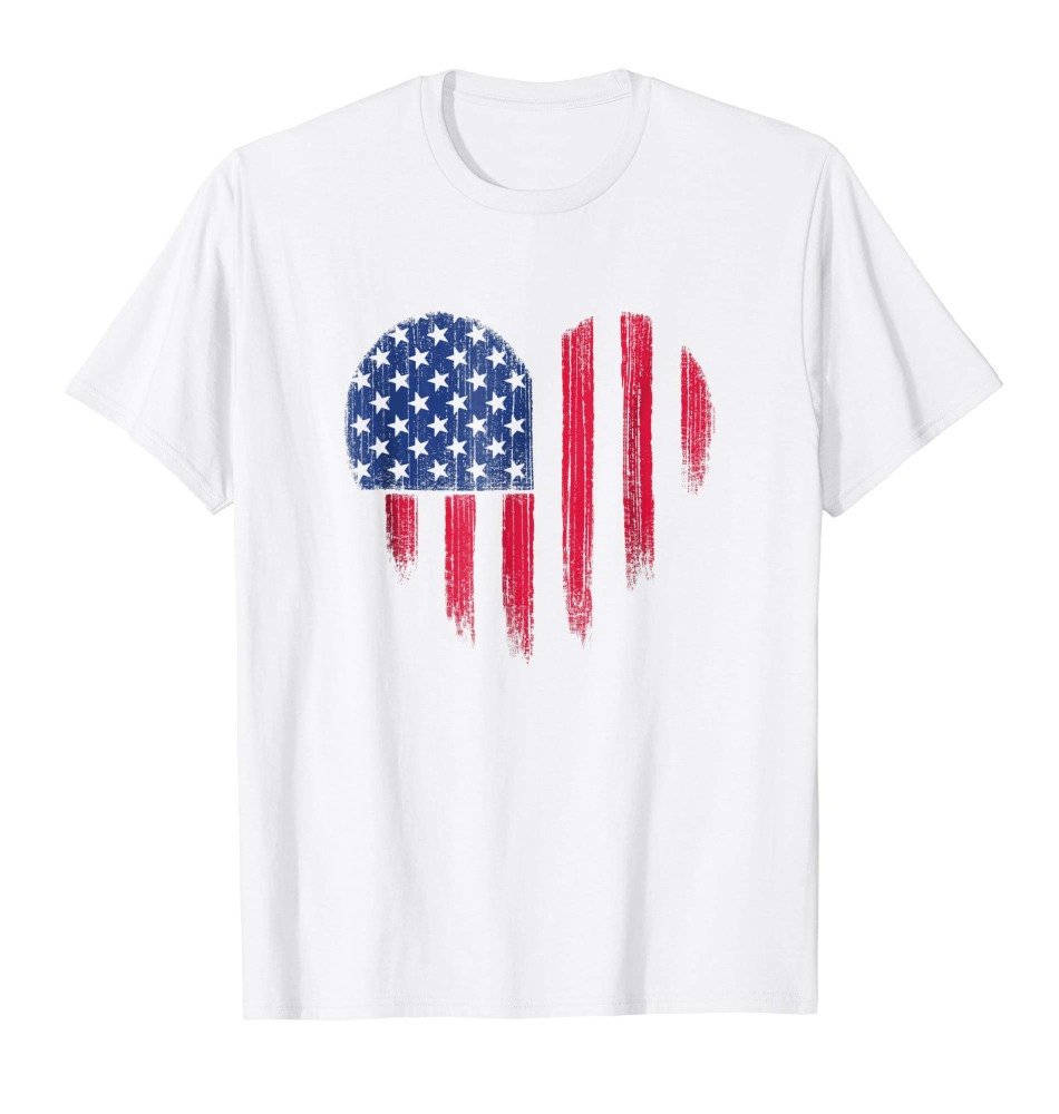 4th of July USA Flag Heart Shirt Distressed Patriotic American Flag Tee
