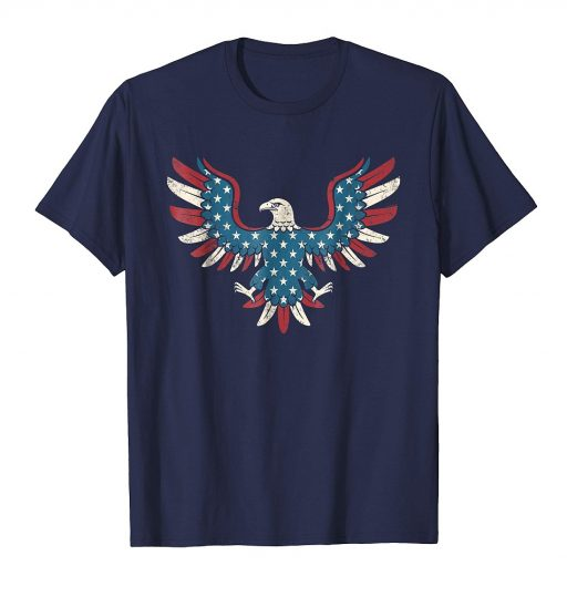 American Flag Eagle Shirt Cool USA 4th of July Patriotic Tee