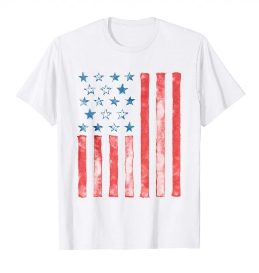 Unique American Flag Shirt Creative USA Patriotic 4th of July Tee