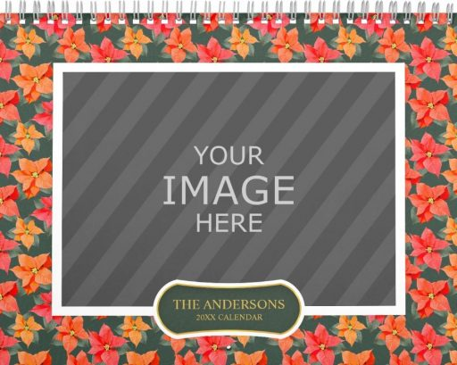 Family Wall Calendar Template - Floral Backgrounds