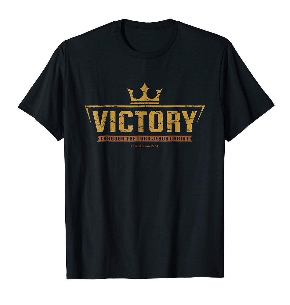 Christian T Shirt Victory In Jesus Christ Tee