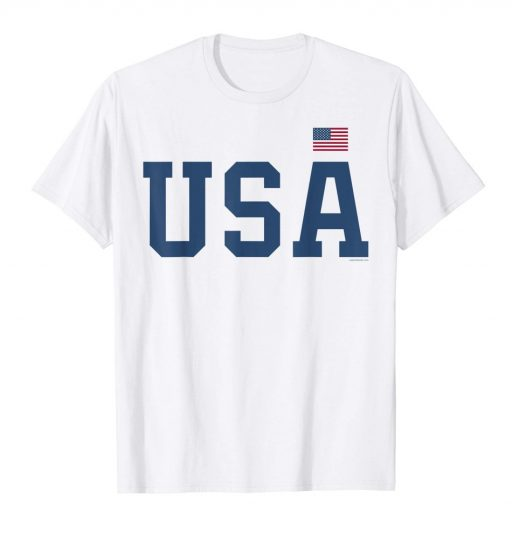 USA T Shirt - White Patriotic Shirt - American Flag 4th of July Tee