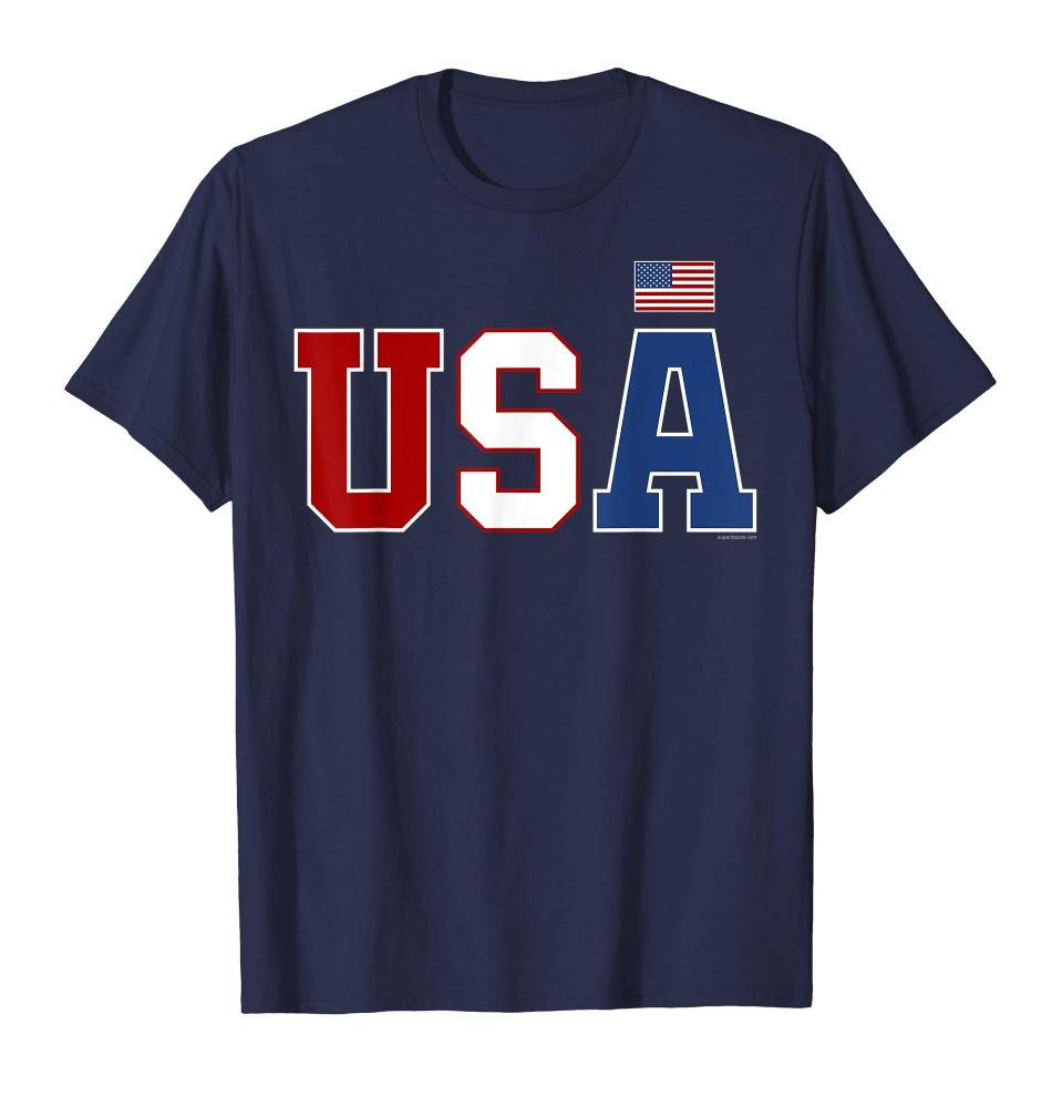 Red White Blue USA T Shirt - Patriotic Shirt - American Flag 4th of July Tee