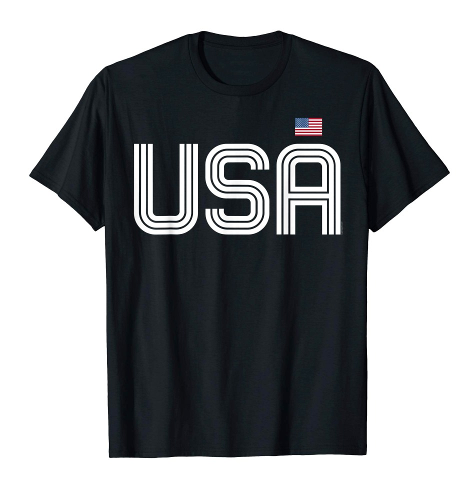 Retro USA T Shirt Patriotic Shirt American Flag 4th of July Tee