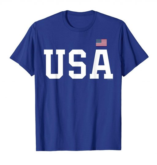 USA T Shirt Patriotic American Flag 4th of July Tee
