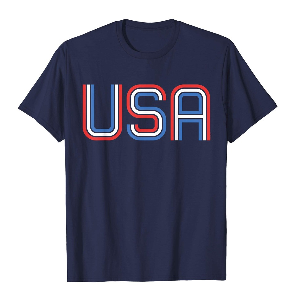 USA T Shirt Retro Patriotic American Shirt 4th of July Tee
