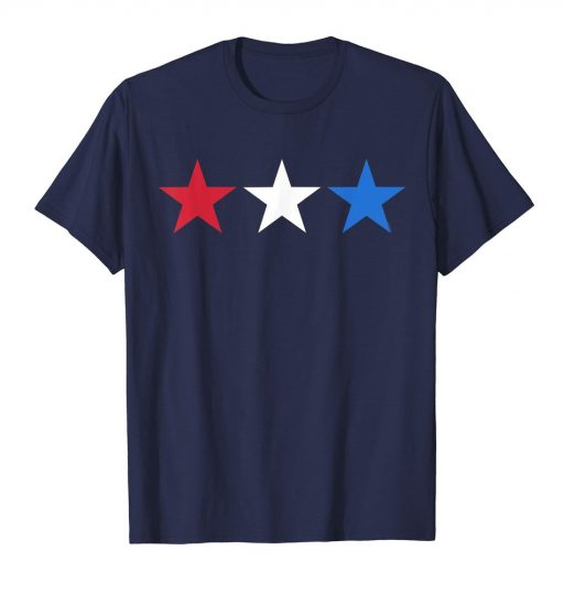 4th of July T Shirt Red White Blue Stars Patriotic American Tee