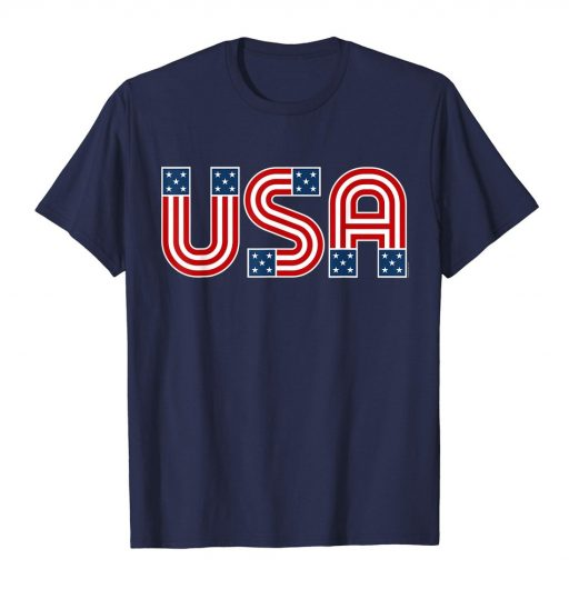 American Flag Shirt 4th of July USA T Shirt Retro Patriotic Tee
