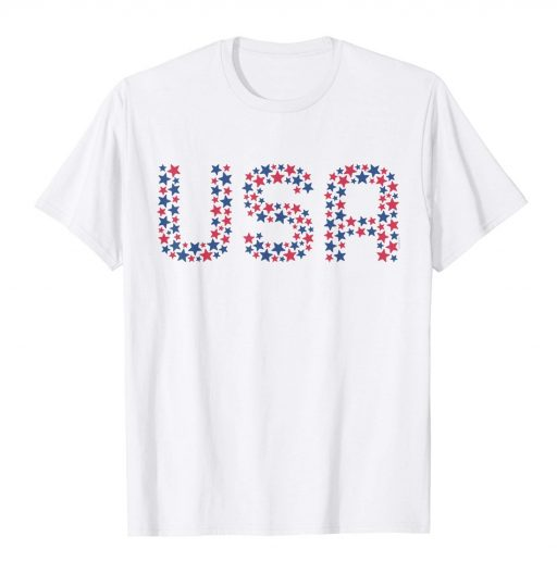 USA 4th of July T Shirt Patriotic American Red White Blue Stars