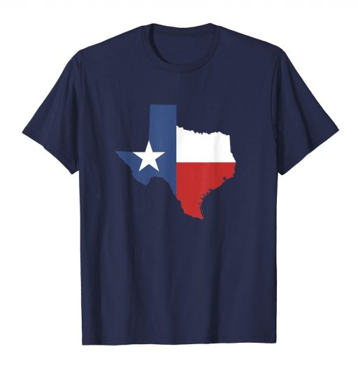 Texas State T Shirt For Women Men & Youth Texas State Map Flag Shirt