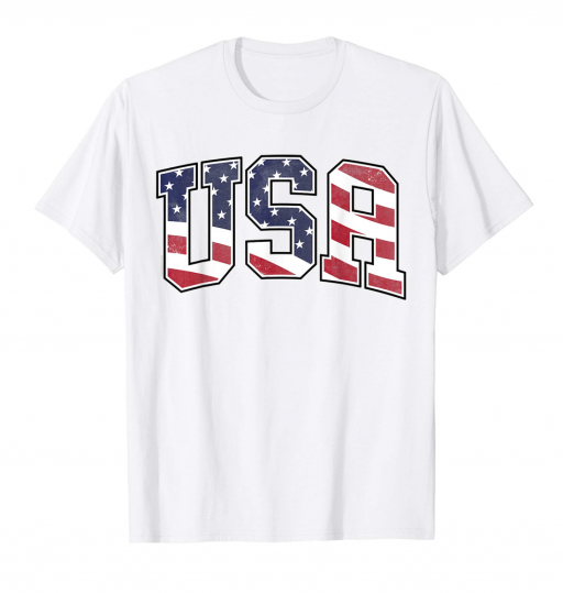 USA Patriotic T Shirt American Flag 4th of July Tee