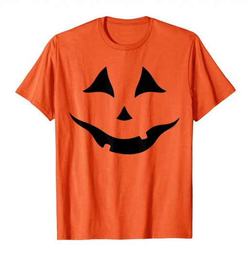 Halloween T-Shirt Jack O Lantern Pumpkin Costume Orange Shirt